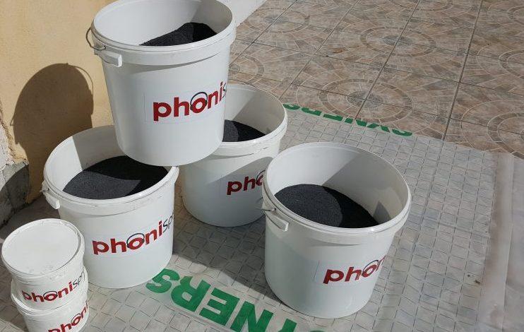 Acoustique, phonique, isolation, sous-couche, chantier, Phonispray, Cemfluid